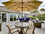 Enjoy Dining on the Back Deck at 45 Lands End