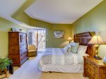 Master Bedroom with King Bed at 301 Barrington Arms