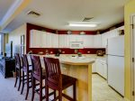 Kitchen with Breakfast Bar at 2203 SeaCrest