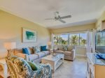Living Room with Direct Ocean Views at 409 Captains Walk