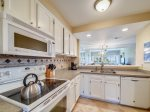 Kitchen with Ocean Views at 409 Captains Walk
