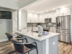 Renovated Kitchen with Stainless Steel Appliances at 181 Beachwalk