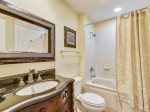 Guest Bathroom with Shower Tub Combo at 8133 Wendover Dunes