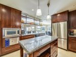 Kitchen with Golf Course Views at 184 Twin Oaks