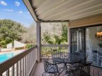 Private Deck Overlooks Pool at 2413 Lighthouse Tennis