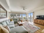 Living Room and Dining Area with Ocean Views at 3103 SeaCrest