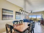 Dining Area with Ocean Views at 510 Barrington Court