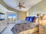 Master Bedroom with King Bed and Ocean Views at 510 Barrington Court