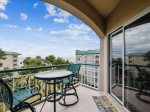Private Balcony with Ocean Views at 4501 Windsor Court North