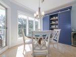 Dining Area with Seating for Four and Beautiful Custom Built Pantry at 103 Windsor Place