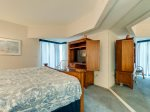 This Master bedroom also features a private bathroom and TV - 107 Barrington Arms