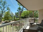 The spacious balcony provides Pool to Ocean Views at 107 Barrington Arms