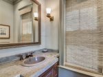 Private Bath with Walk In Shower Located off Downstairs Den at 10 East Wind