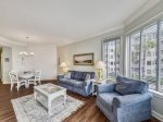 Living Room with Balcony Access and 2nd Floor Ocean Views at 1204 Sea Crest