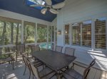 Screened Porch Connects to Pool Area at 12 Black Tern