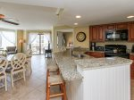 Kitchen with Breakfast Bar at 1301 Villamare