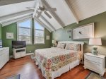 Located off Main Home is a Private Bedroom with Queen Bed at 13 Myrtle Lane