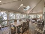Large Screened Porch with Dining Table that Seats 6 at 13 Wren