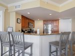Kitchen with Breakfast Bar at 1401 Villamare