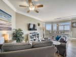 Living Room and with Ocean Views at 1406 Sea Crest