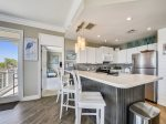 Fully Equipped Kitchen with Breakfast Bar at 1406 Sea Crest has updated appliances