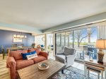 Living Room with Views of Calibogue Sound at 1414 South Beach Villa
