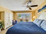 Upstairs Master Bedroom with Private Deck and Ocean Views at 1415 South Beach Villa
