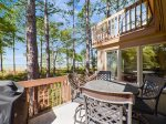 Deck with Ocean Views at 1415 South Beach Villa in Sea Pines