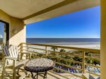 Balcony with Ocean Front Views at 1501 Villamare