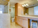 Updated Guest Bathroom with Shower Only at 1501 Villamare