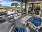 Screen Porch with Water Views at 15 Lands End Road