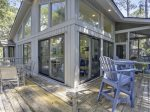 Back Deck and Screened Porch at 15 Wren