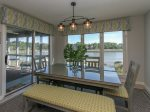 Dining Area with Water Views at 16 Lands End Court