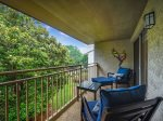 Covered 3rd Floor Balcony at 1715 Bluff Villa