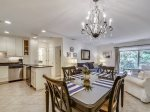 Dining Area with Seating for Four at 1715 Bluff Villa