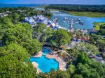 The South Beach Marina Village has a number of restuarants and shops in Sea Pines