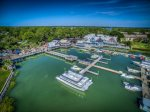 Guests can enjoy meals and live entertainment at the South Beach Marina Village
