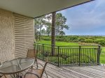 Deck with Views of Calibogue Sound at 1824 Beachside Tennis