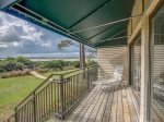 Deck with Ocean Views at 1824 Beachside Tennis