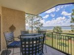 Balcony with Beautiful Views of Calibogue Sound at 1852 Beachside Tennis