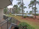 Spacious Walk-Off Deck at 1866 Beachside Tennis