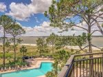 Views of the Pool and Calibogue Sound at 1877 Beachside Tennis