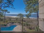 Beautiful Balcony Views off Master Bedroom at 1879 Beachside Tennis