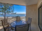 Private Balcony off Guest Room with Peaceful View of Calibogue Sound at 1879 Beachside Tennis