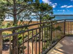 Balcony with Views of the Calibogue Sound at 1882 Beachside Tennis