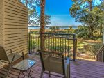 Private Walk-Off Deck from Master Bedroom at 1887 Beachside Tennis