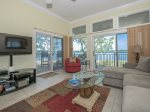 Living Room with Views of the Calibogue Sound from 1898 Beachside Tennis