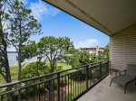 Private Balcony off Master Bedroom with Ocean Views at 1900 Beachside Tennis