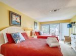 Guest Bedroom with Two Queen Beds at 1900 Beachside Tennis