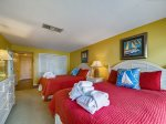 Guest Bedroom with Balcony Access at 1900 Beachside Tennis